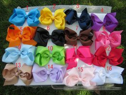 Wholesale New quot cm big Hair bow clip colors screw thread Bow Hairpin cotton Duckbill clip for baby Barrettes C540
