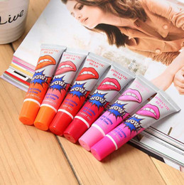 Wholesale Waterproof Lip Gloss Women Make Up ml Tint WOW Long Lasting Tint Lip Peel Off Lipstick Full lips
