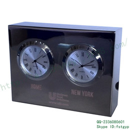 Wholesale Supply Quartet metal table clock remote dual time zone round Seiko Taiwan Zhongbao Jie company custom gift table clock