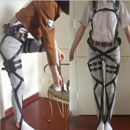 Wholesale 2015 New Attack On Titan Cosplay Shingeki No Kyojin Cosplay Recon Corps Harness Belts Hookshot Cosplay Costume