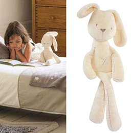 Wholesale 54 CM Cute Baby Kids Animal Rabbit Sleeping Comfort Doll Plush Toy Baby Long Legs Soft Rabbit Bunny Doll Plush Sleeping Toy