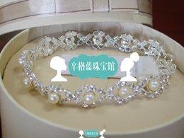 Wholesale Singh blue jewelry shop Ann Taylor pearl diamond bracelet necklace sets US OL temperament