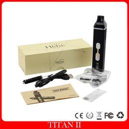 Hebe Titan II Vaporizer Dry Herb Heating Chamber Atomizer Dry Herb Pen Vapor 2200mah Battery Electronic Cigarette