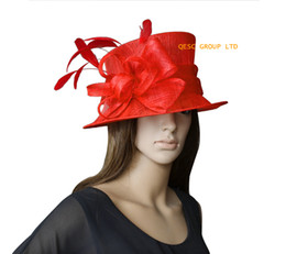 Red Small Sinamay Hat Church Hat Kentucky Derby Hat.
