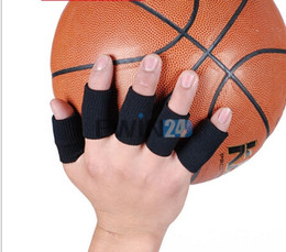 Wholesale Set Of Stretchy Finger Protector Sleeve Support Arthritis Sports Aid Straight New and Hot Selling sets