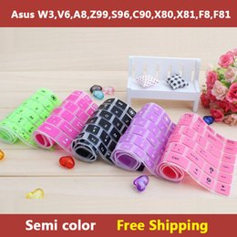 Wholesale-Semi color laptop Keyboard cover skin protector for asus W3,V6,A8,Z99,S96,C90,X80,X81,F8,F81