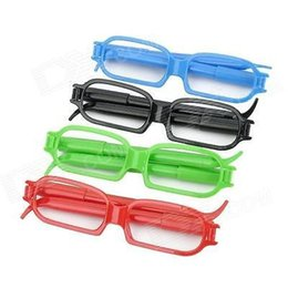 Wholesale Cool Spectacle Frame Glasses Shape Blue Ink Ball Ballpoint Pen Assorted Color