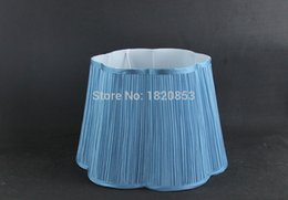 Wholesale x x cm Large Faux Silk Pleated floor lampshades Modern blue decorative lamp shades for table lamps LS59002X