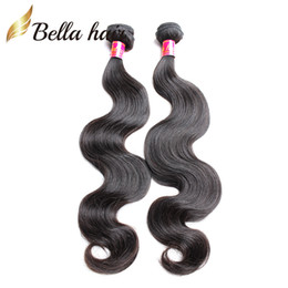 "Cambodian Hair European Mongolian Virgin Hair Weave Natural Color Body Wave Remy Human Hair Bellahair 8""-30"" Mix length 2pc lot"