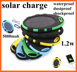 Wholesale 5000mah Solar Battery Portable mAh Magic Mirror Solar Power bank Panel external solar Charger colorful waterproof shockproof dustproof
