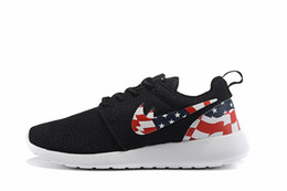 Wholesale 2016 New Cheap Mens Womens Roshe Run America flag shoes sneakers Fashion Lightweight Breathable Mesh Running Walking sports outdoor shoes