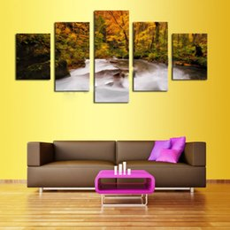 Hot Sale 5 Panel Landscape Painting Home Decor Fashion Canvas Art Unframed Gift Painting Wall Art Decoration