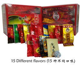 Wholesale Promotion Different flavors Tea Chinese Oolong PuEr Black Green Milk Oolong Ginseng flower Buckwheat Liver Tea Secret Gift