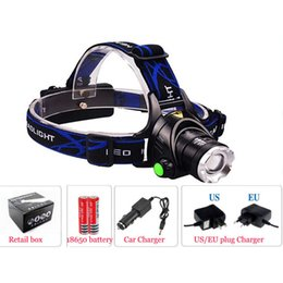 Wholesale 2000LM Zoomable LED Headlamp Aluminum Alloy Casing Headlight with Modes Adjustable Focus for Hunting Hot Sale