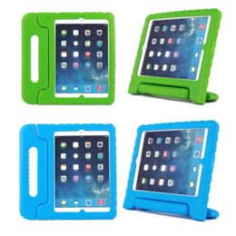 Wholesale DHL Non toxic Healthy Kids Safe Soft Thick EVA Foam Cover Case with Stand for iPad Air iPad iPad air