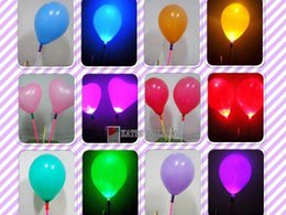 Wholesale Colorful Led Flash Latex Balloon With Sitck Best Party Decoration Product
