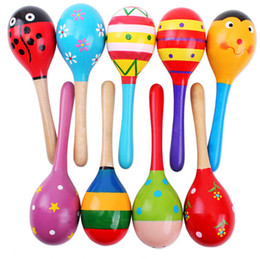 Hot Sale Baby Wooden Toy Rattle Baby cute Rattle toys Orff musical instruments Educational Toys