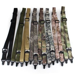 Wholesale Tactical double Point Adjustable Gun Sling Strap System Point Gun Rope For Airsoft Hunting colors