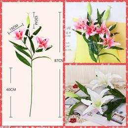 Wholesale Bulk Artificial Pink Silk Lily Flower Vine Rattan For Valentine s Day Home Garden Hotel Supermarket Wedding Decoration Arch Suppliers Cheap