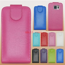 2015 For S6 Genuine Leather Case Vertical Up and Down Open Flip Classical Real Pouch Holster Skin Cover for Samsung Galaxy S6 Edge G9200 DHL