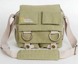 Bolsas de honda de la cámara en venta-Verde bolsa dslr GN A2345 National Geographic diseño de la marca Light Canvas honda caso réflex digital A 2345 bolsa de la cámara Verde