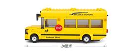 Wholesale Sluban Single Bus D Puzzle Model Enlighten Construction Brick Toy For Children Compatible with Legominifigure Best Gift