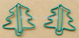 5000pcs lot Green Christmas tree Paper clip bookmark Office supply