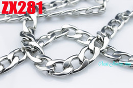 New arrivals Hot seller 20-34inch COOL stainless steel necklace 15mm HEAVY CUBAN Figaro chain men boy link chains 1 piece ZX281