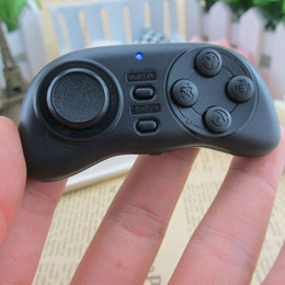 Wholesale-Mini Bluetooth Joystick Android Wireless Remote Control Controller Gamepad for Android   iOS Smart Phone 2015