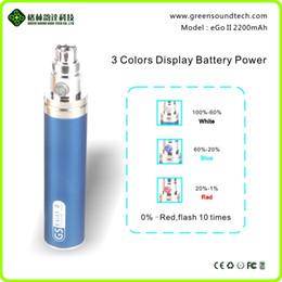 2015 patente innovadora 9 colores ego ego ii 2200mah ego batería Ego 2200mah GS Ego II 2200mah batería de ego ii precio de fábrica al por mayor desde precios al por mayor para las baterías del ego fabricantes