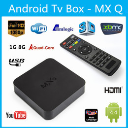 Wholesale USA UK Stock Online Update MXQ MXG MXS TV BOX Amlogic S805 Quad Core Android Airplay Programs Media Player KODI14 Rooted