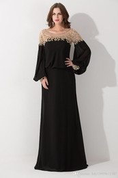 2019 New Long Sleeve Sequined Chiffon Formal Party Gowns Vestido De Festa Hot Sale Black Loose Scoop Neck Dubai Kaftan Evening Dresses 025
