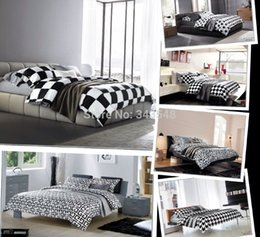 Wholesale-Bedcover Coverlet and Plaid for Bed Black and White Plaid Men with Bedding Set Queen Size,Cotton Bedroom and Hotel Textiles Sets