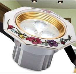 spot led Rose series ceramic light quality downlight led modern brief rustic lamp 3w