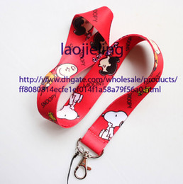 NEW wholesale 20 pcs Cartoon red Snoopy Neck Lanyard for MP3 4 cell phone key chain Free shipping