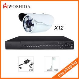 12CH Network Camera Surveillanc System Kit + 1.0MP Network Camera White Light 720P With IR-CUT Night Vision Full Color Woshida