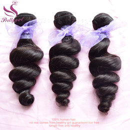 Grade 7A Unprocessed Indian Virgin Hair Loose Wave Wavy 100% Human Hair Weave Bundles Loose Curly Indian Remy Hair Extensions Natural Black