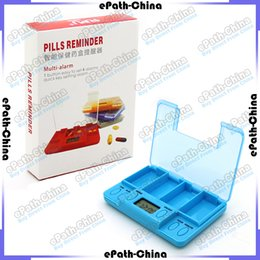 Wholesale Digital Multi Alarm Timer Pills Case Box With LED Electronic Tablet Reminder Medicine Box