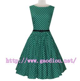 Manufacturer 'Audrey' Polka Dot Vintage 1950's Rock 'n' Roll Swing Dress
