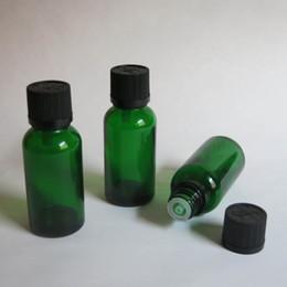 Wholesale 100pcs lot 30ml Green Glass Vials Bottle With Cap Essential Oil Bottle Electronic Cigarette Liquid, wholesale