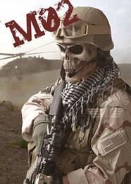 Proteger a paintball en venta-M02 paintball Muerte Hueso horror Airsoft Máscara de cráneo Táctico Cara completa Proteja a Halloween Partido ejército de dos Máscara