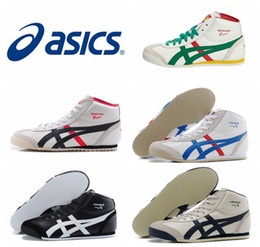 Wholesale New Colors Asics Onitsukas Tigers Running Shoes For Women Men Comfortable Zapatillas High top Athletic Outdoor Sport Sneakers Eur