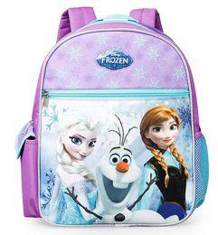 Wholesale Beautiful Stereo Elsa bag kindergarden kids backpack humanized ergonomic design widening S shaped straps waterproof bags easy clean