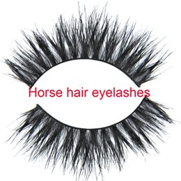 Free shipping natural style horse fur eyelashes gift for sexy girls Handmade Real Luxurious Natural Horse fur Thick Soft Cross eyelashes