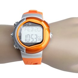 Wholesale-New Calorie Burned Heart Rate Pulse Sport Watch Wristwatch Orange HB88
