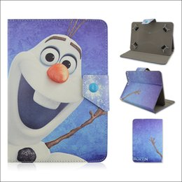 Wholesale Adjustable Frozen Elsa Anna PU Leather Stand Case Cover For inch Tablet PC MID Samsung Galaxy Tab iPad Mini Air
