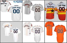 Wholesale Custom Houston Astros jersey Houston Astros Personalized Cool Base baseball Jersey Commemorative with th Anniversary Patch S XL