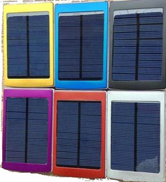 hot Large Capacity Solar Charger and Battery Solar Panel Dual Charging Ports Power Bank Batteries With LED Light For iPad iPhone 30000mah