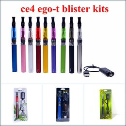 Wholesale eGo CE4 Blister Kits eGo T Battery mah mah mah Electronic Cigarette E Cigarette E Cig Kits CE4 Clearomizer Various Colors Instock