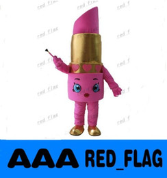 Wholesale NEW Lipstick mascot costume great for the beauty cosmetic shops customized advertising mascot LLFA113